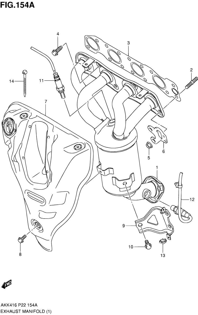 154A - Выпускной коллектор (M16A)