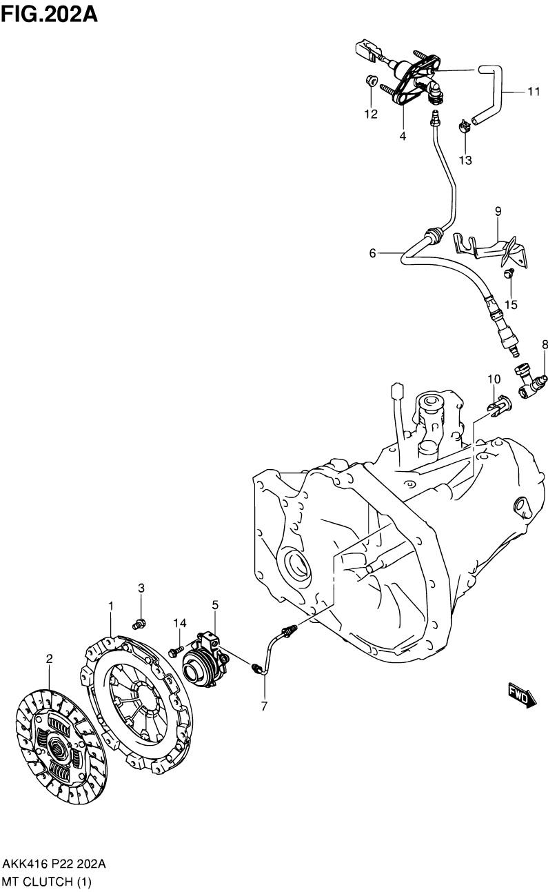 202A - Муфта сцепления (5MT LHD)