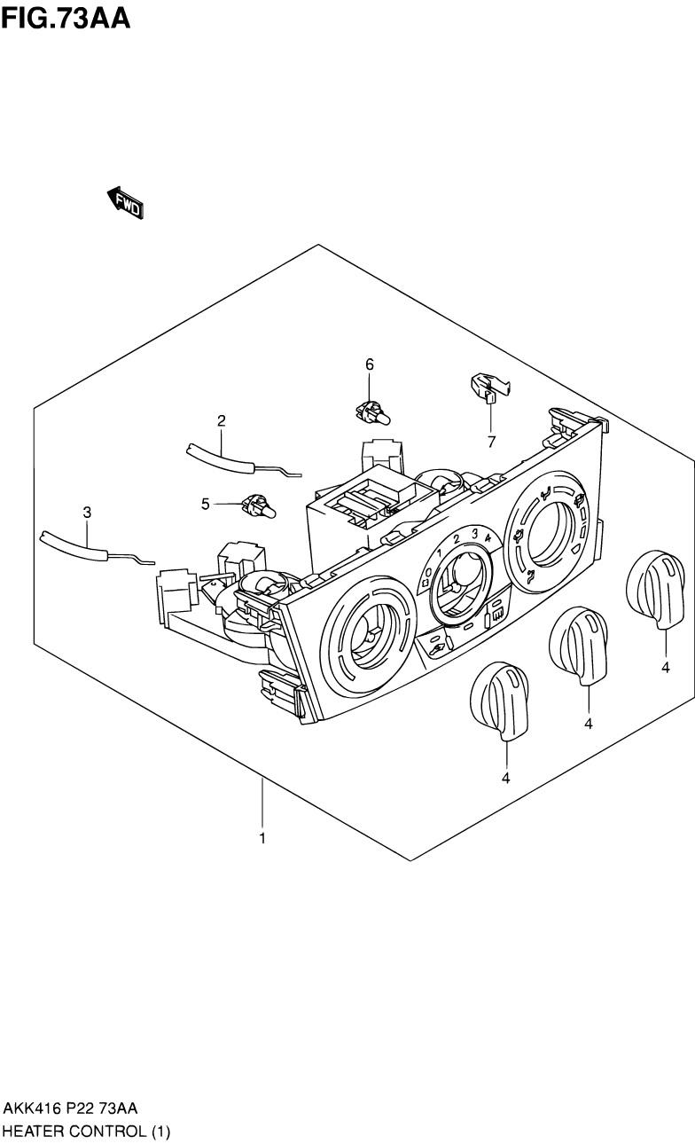 73AA - Блок управления отопителем (See VIN)