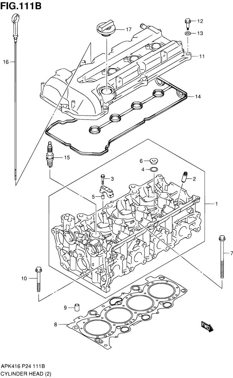 111B - Головка блока цилиндров (M16A)