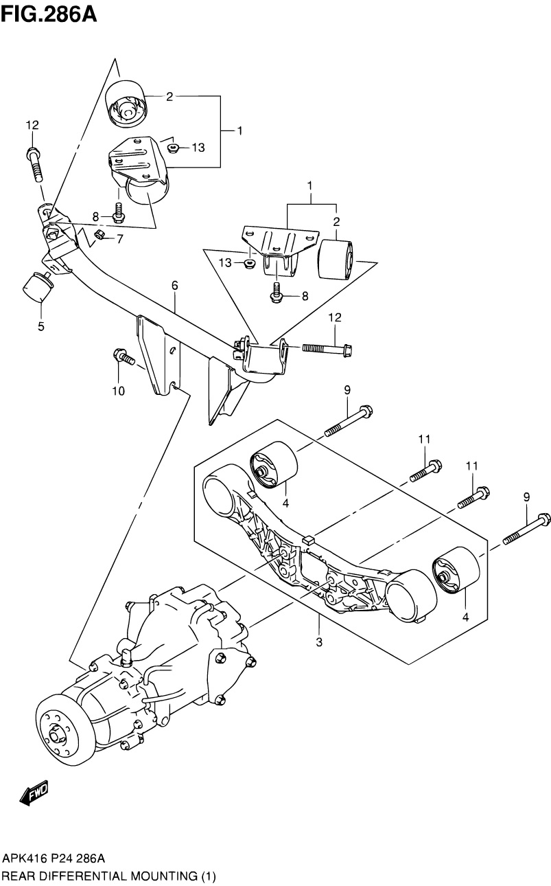 286A - REAR DIFFERENTIAL MOUNTING (4WD (K14C,M16A))