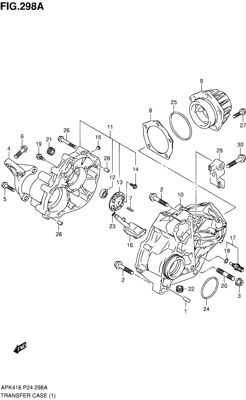 298A - РАЗДАТОЧНАЯ КОРОБКА (4WD (5MT,6MT,6AT))