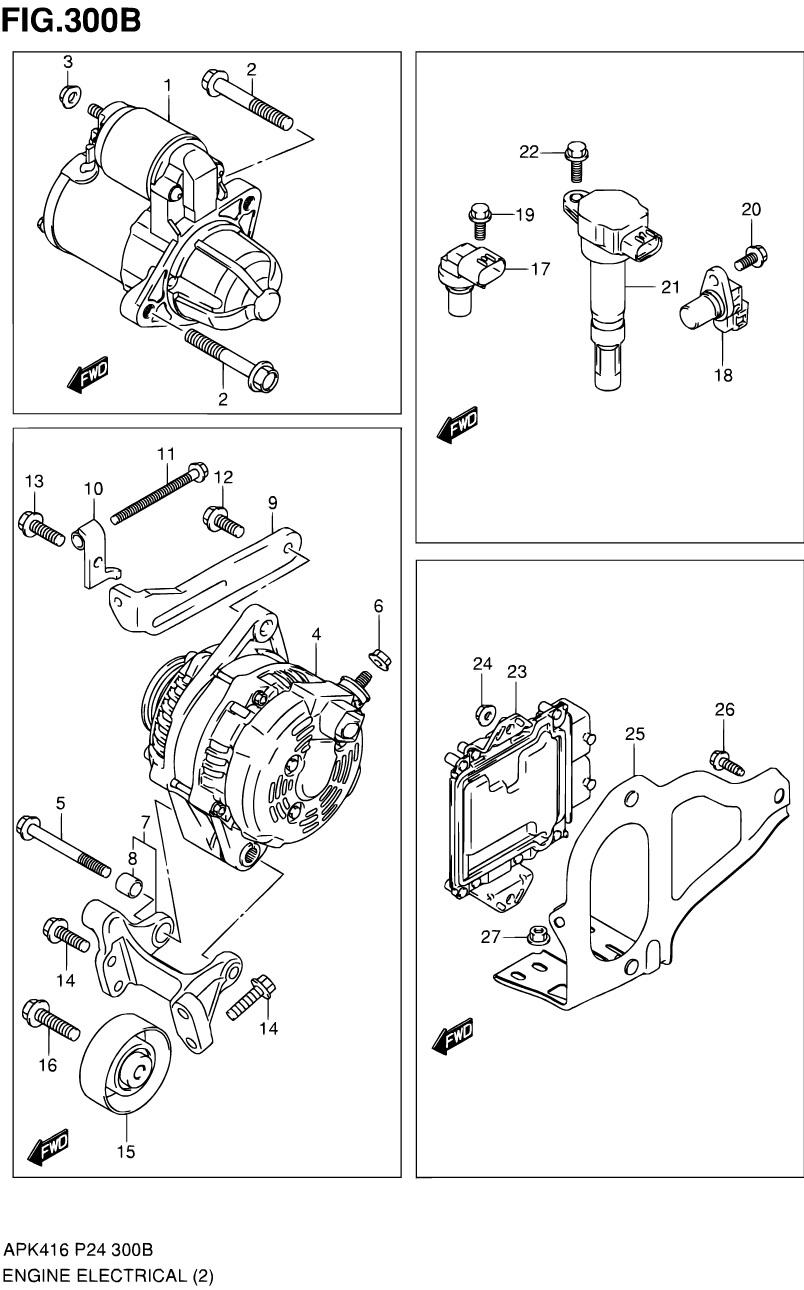 300B - Электрооборудование двигателя (M16A)