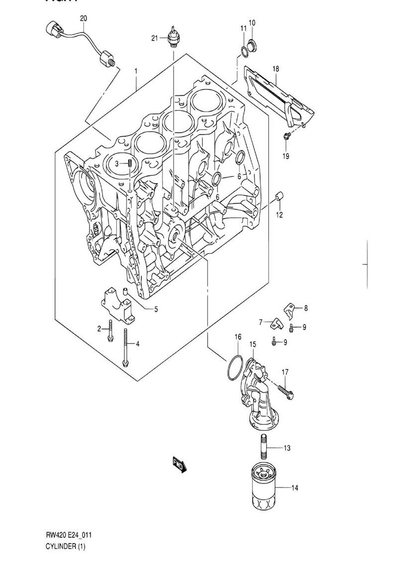 11 - Цилиндр RW416 (TYPE 1,2,3:M15A,M16A)