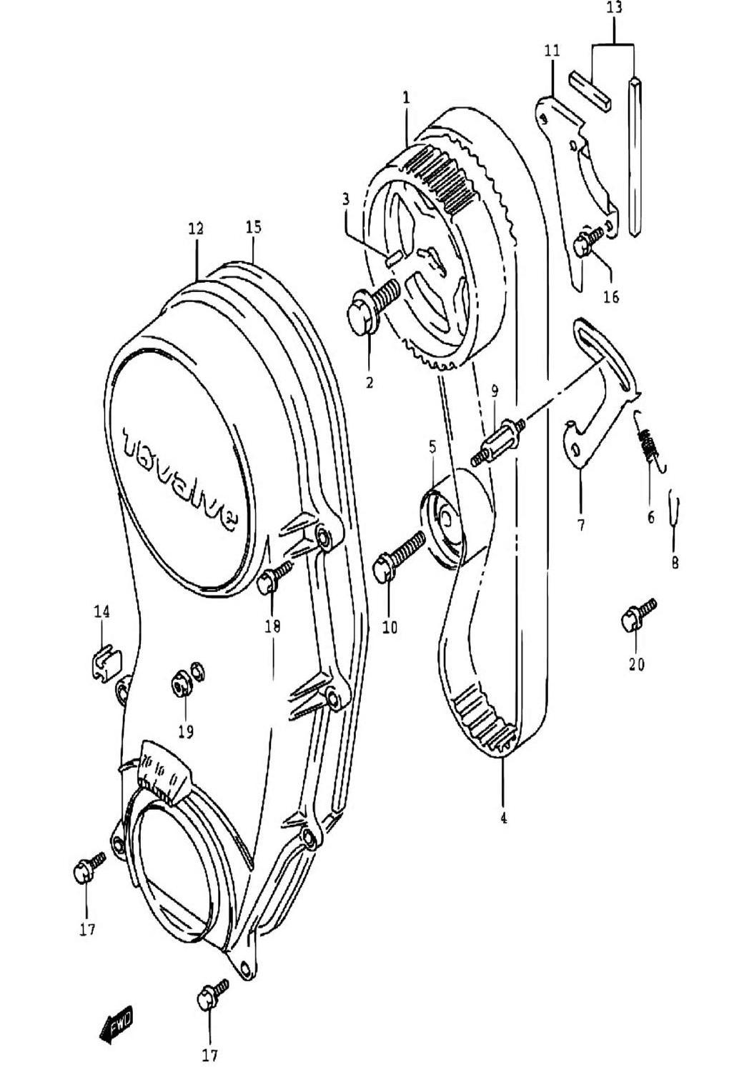 8 - Ремень ГРМ SN413V