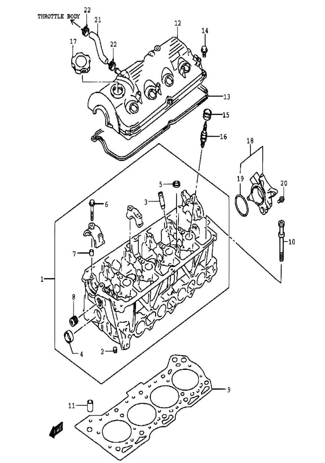 3 - Головка цилиндров (SQ416-2)