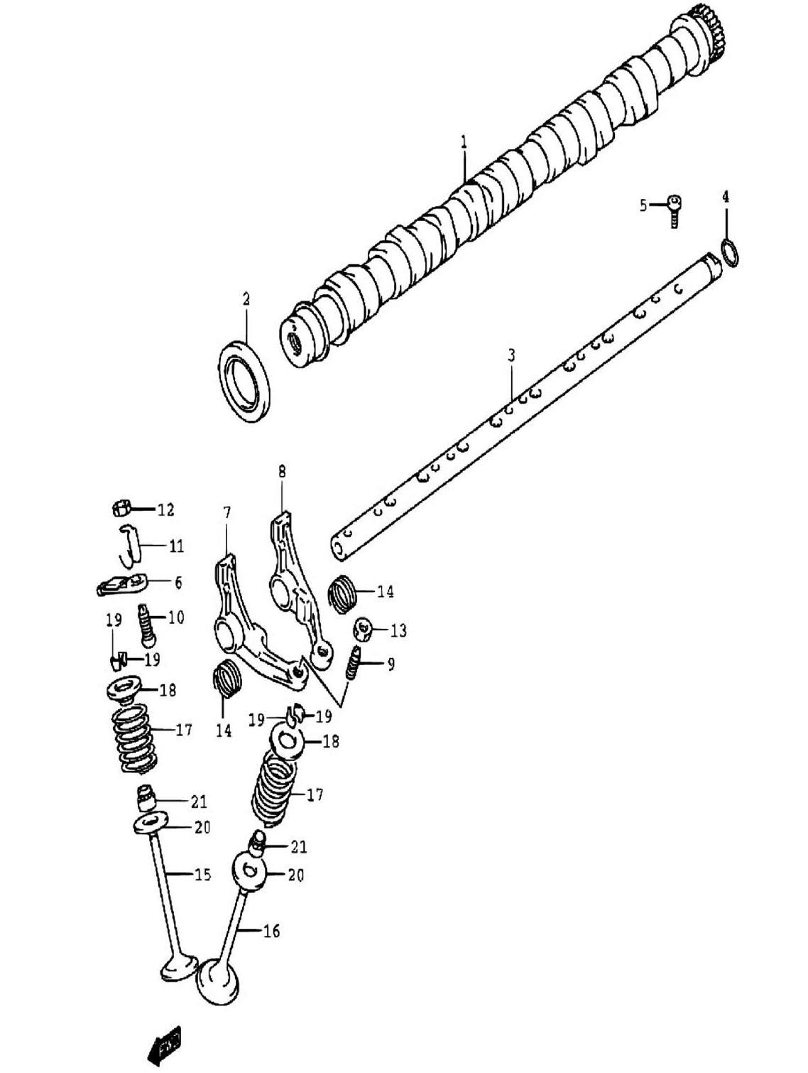 15 - Распредвал (SQ416-2)