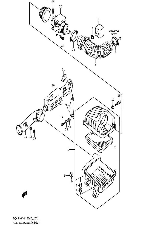 23 - Воздушный фильтр (SQ416-2)
