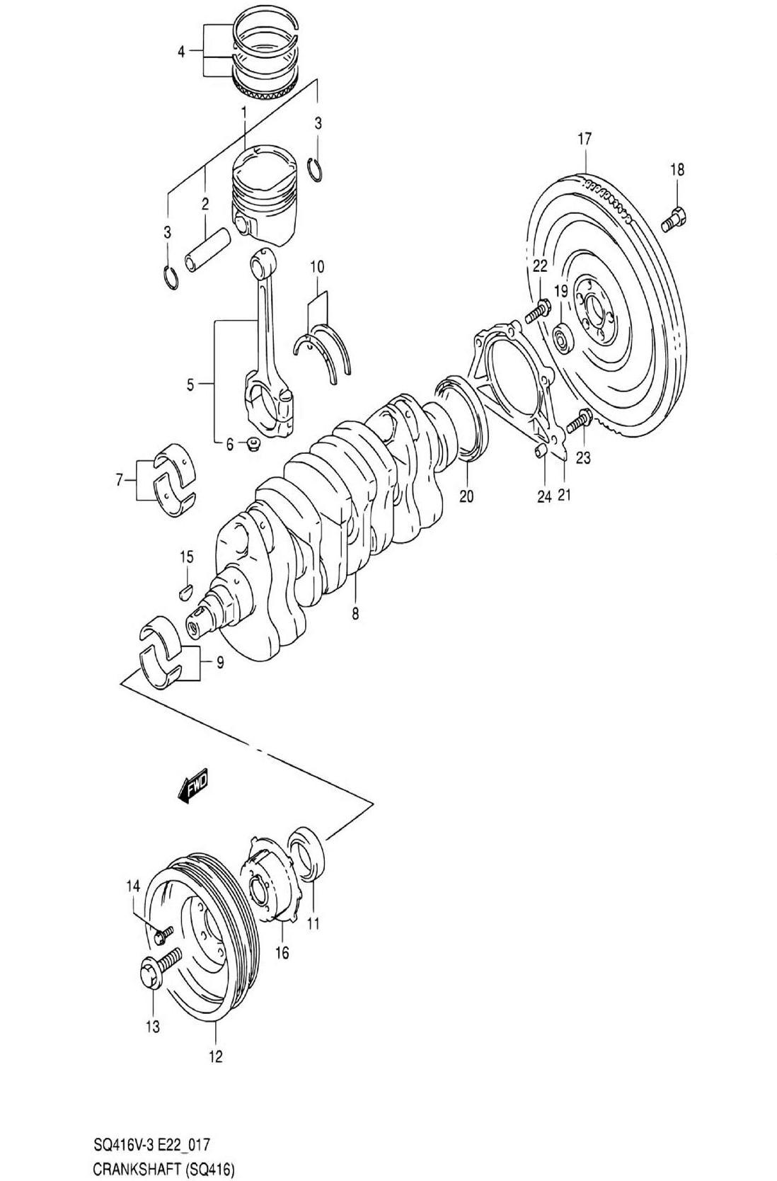 17 - Коленвал (SQ416-3)