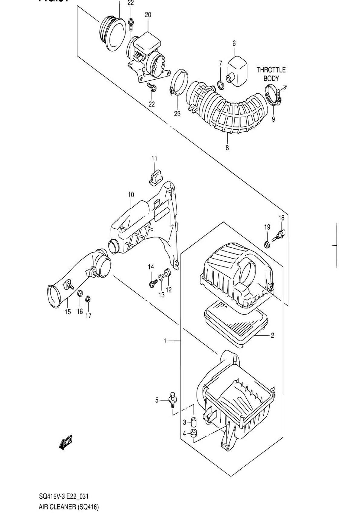 31 - Воздушный фильтр (SQ416-3)
