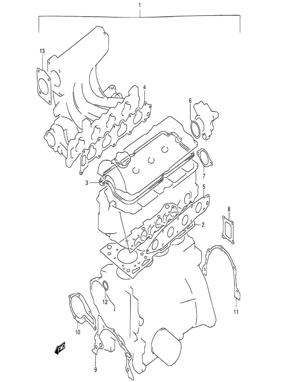 1 - Комплект прокладок двигателя (SQ416V)