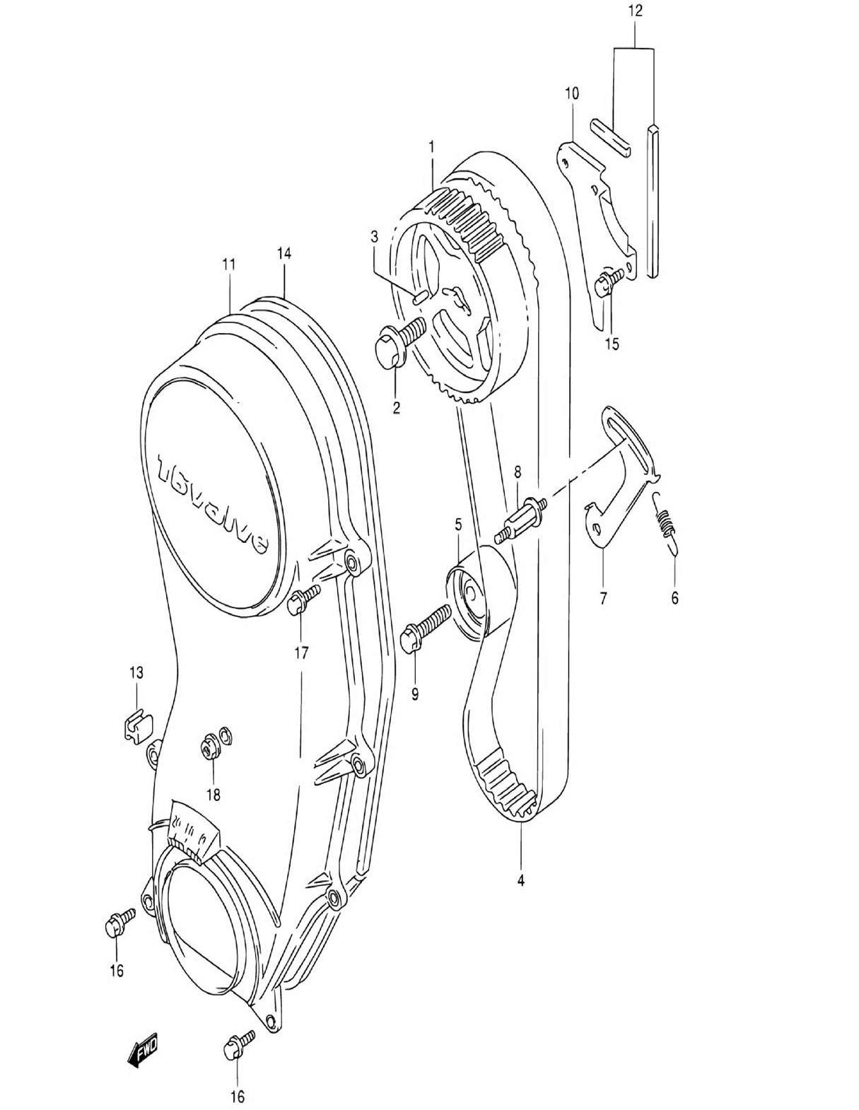 17 - Ремень ГРМ (SQ416V)