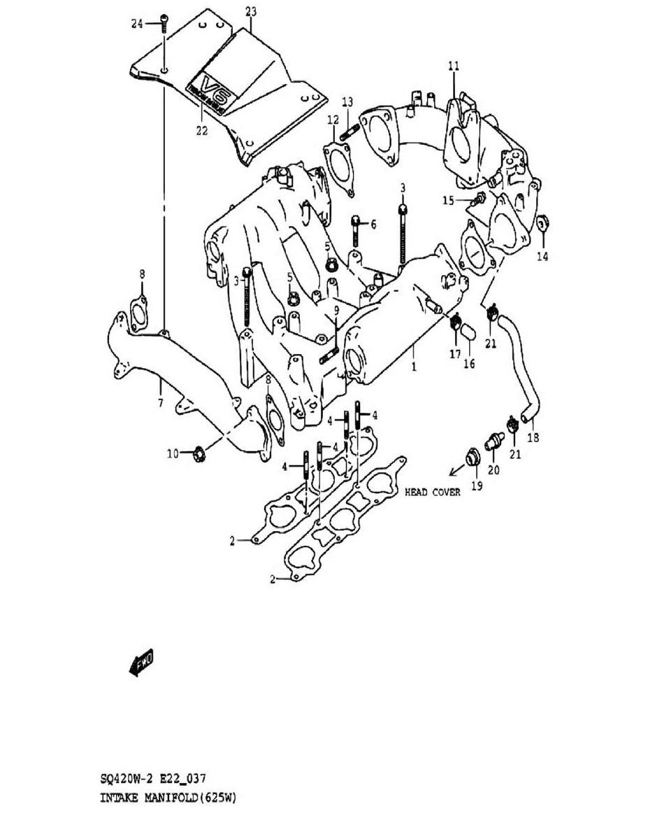 37 - Всасывающий коллектор (SQ625W)