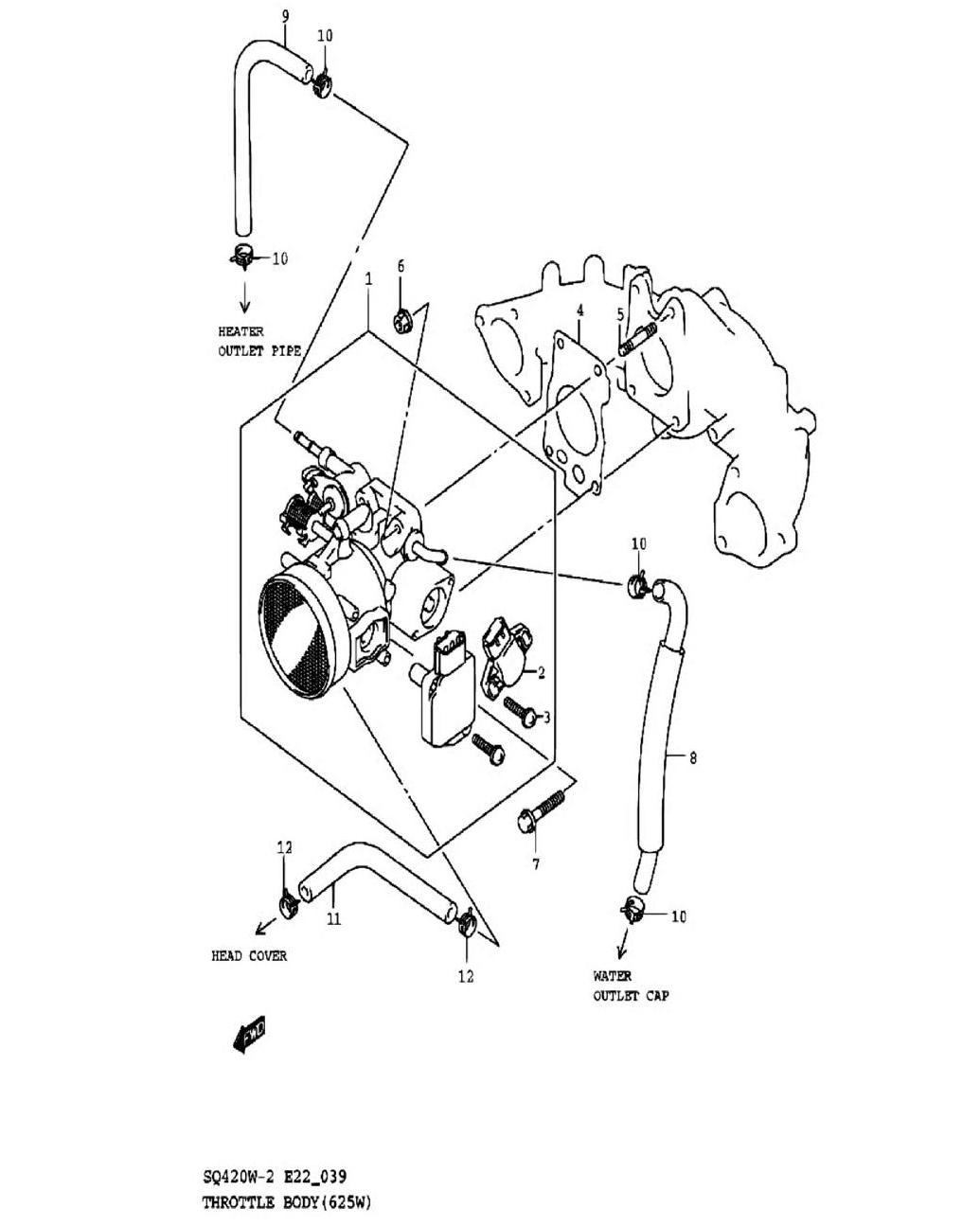 39 - Корпус дроссельных заслонок (SQ625W)