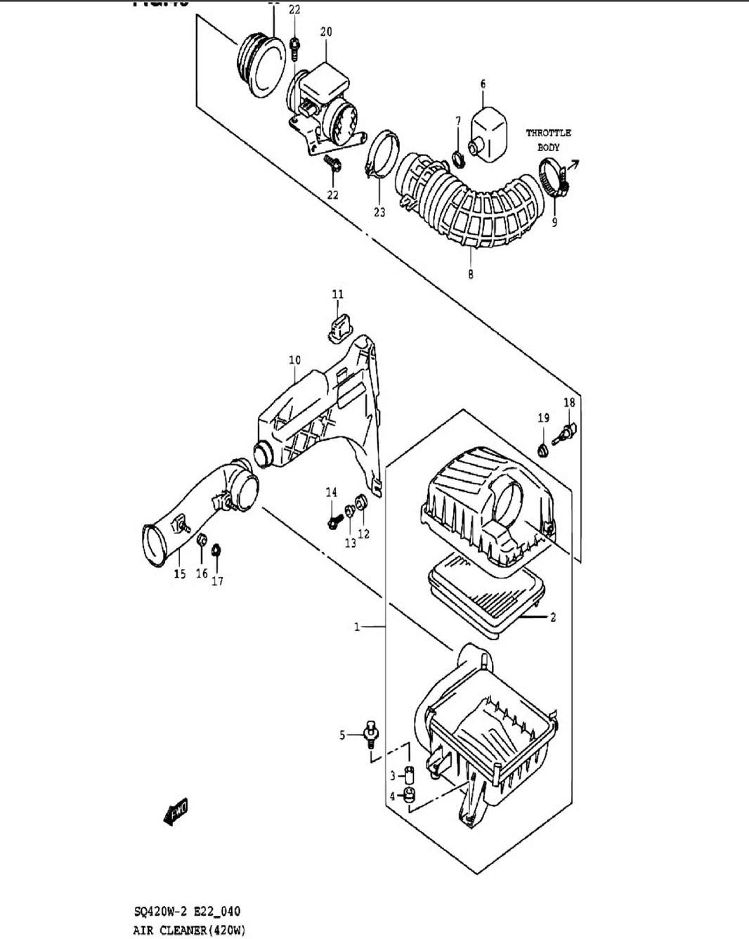 40 - Воздушный фильтр (SQ420W-2)