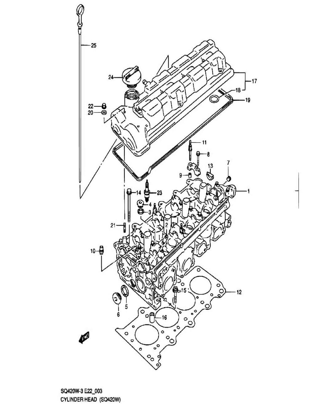 3 - Головка цилиндров (SQ420W-3)