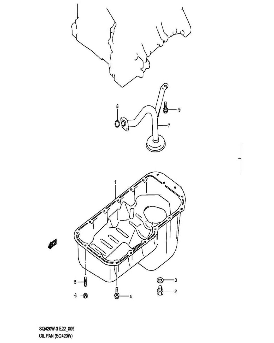 9 - Поддон картера (SQ420W-3)