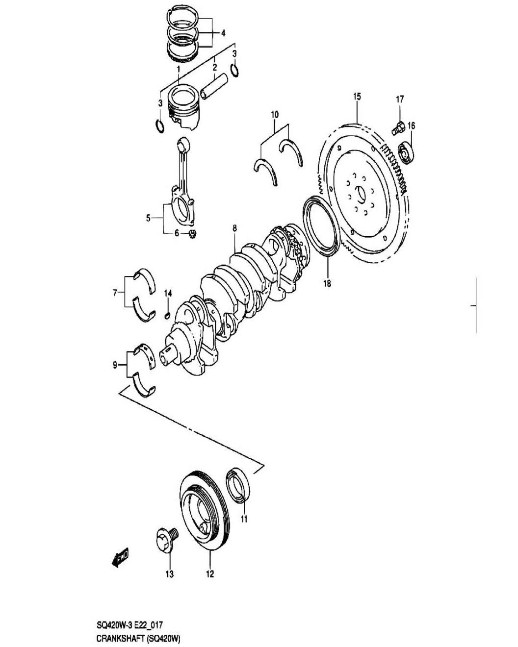 17 - Коленвал (SQ420W-3)