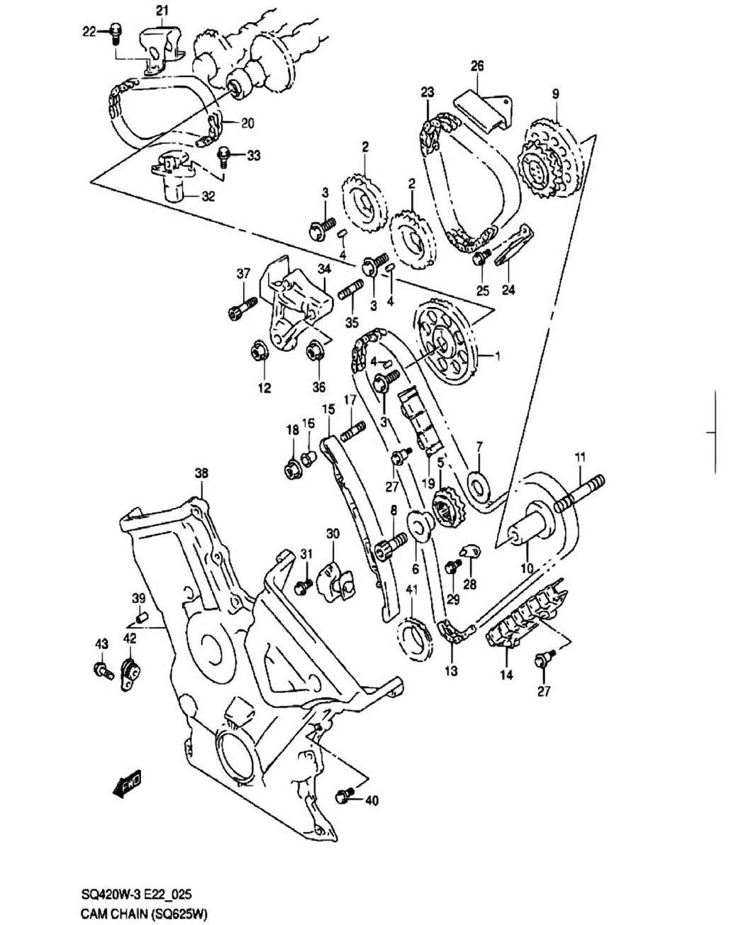 25 - Цепь ГРМ (SQ625W)