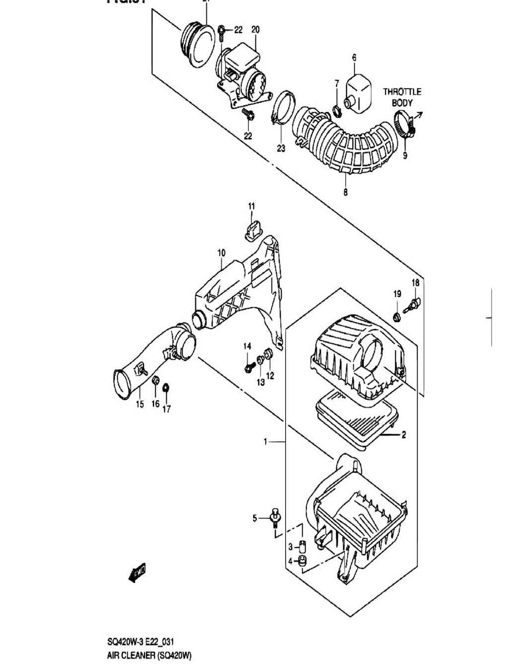 31 - Воздушный фильтр (SQ420W-3)