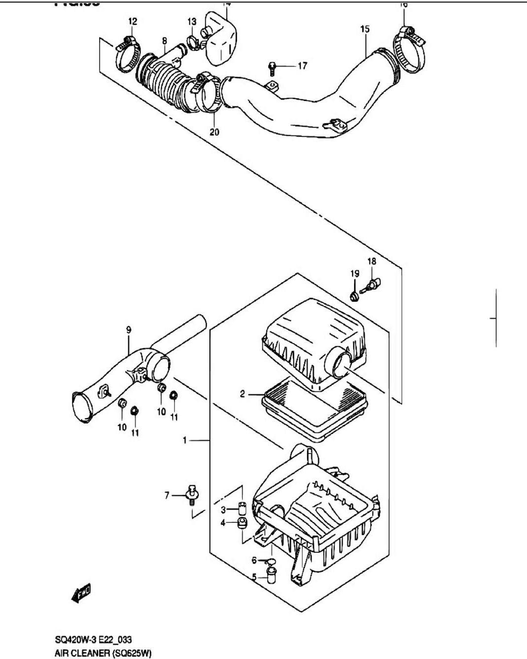33 - Воздушный фильтр (SQ625W)